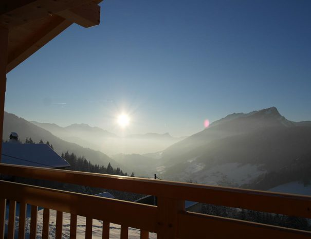 view chalet grand bornand