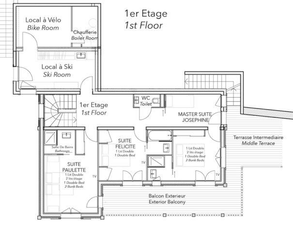 Chalet Celeste plan 1er etage