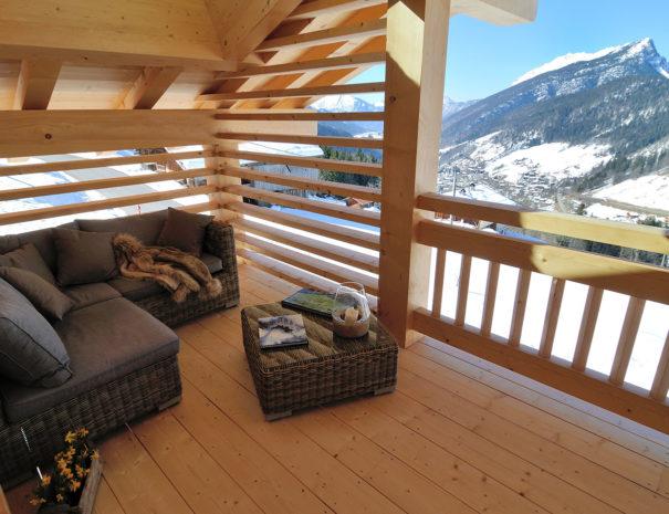 terrasse chalet montagne chinaillion